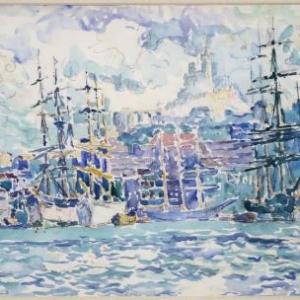 Paul Signac, Marseille, 1907, Aquarelle, 28.5 x 43 cm, Galerie de la Presidence, Paris