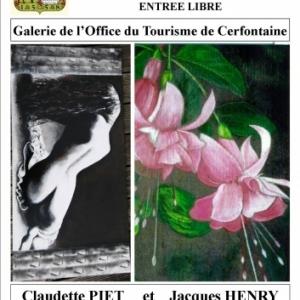 Exposition des peintres Claudette Piet et Jacques Henry à Cerfontaine