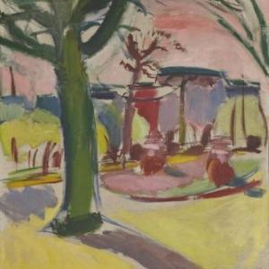 Paysage au tronc, (1910-1917), Huile sur toile, 76.5 x 70.5 cm