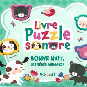 Livre Puzzle sonore - Bonne nuit, les bébés animaux !