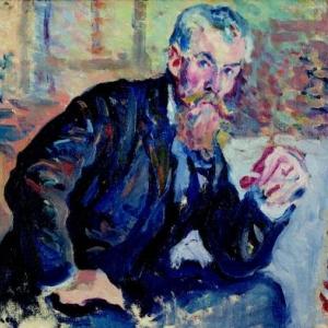 Maximilien Luce, Portrait d Henri Edmond Cross, v. 1898, Huile sur toile, 23.5 x 27 cm, Collection particuliere, DB N°713