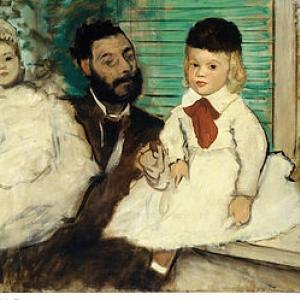 Edgar Degas, Le vicomte Ludovic Lepic et ses filles - copywright Sabam belgium 2016