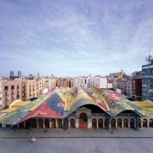 Santa Caterina Market, Barcelona, Spain - Enric Miralles & Benedetta Tagliabue – EMBT - © Roland Halbe