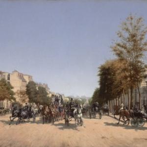 Edmond-Georges Grandjean (1844–1908), Parijs, avenue des Champs-Elysees. Gezicht vanaf het place de l Etoile, copyright State Hermitage Museum, St Petersburg
