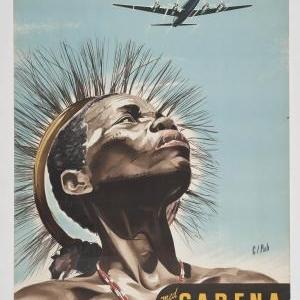 Affiche 'Belgien. Belgisk Kongo. Sydafrika', F. De Wyngaert, 1952.
