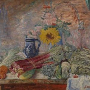 James Ensor Bloemen en groenten, 1896, doek 79 x 98 ©