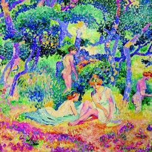 Henri Edmond Cross, Le Bois, 1906-1907, Huile sur toile, 46 x 55 cm