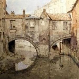"""""""L ancienne Ecluse""""/Jean-Baptiste Van Moer (c) Musee de la Ville de Bruxelles"""