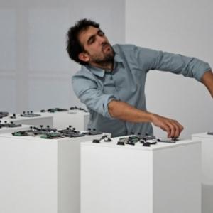 """Tarek Atoui (c) """"Galerie Max Hetzler"""""""