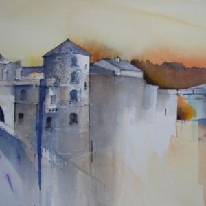 """(c) Bernadette Galle, ancienne eleve de feu l artiste namurois Luc Perrot (1922-1985)/""""ENAM"""""""