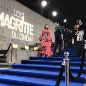 """La descente des marches des """"Magritte du Cinema"""", en 2018 (c) """"RTBF"""""""