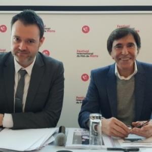 """L Administrateur-Delegue, Maxime Dieu, et le President-Fondateur, Elio Di Roupo (c) """"DH"""""""