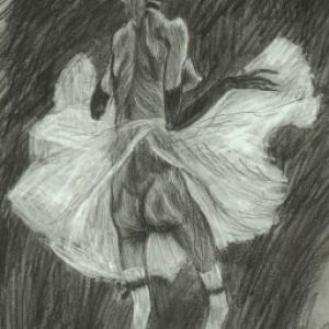 """""""La Mort qui danse""""/F.Rops/1865/(c) """"Muse F. Rops"""""""