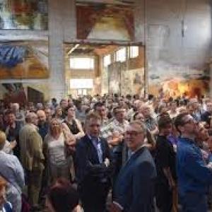 """Vernissage de l exposition """"Territoires d Ici et d Ailleurs"""", auMartinet, aMonceau-Roux(2018) (c) """"L Avenir"""""""