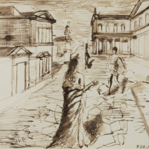 "Paul Delvaux (c) ""Galerie Beres"" (c) ""Caracas"""