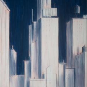 """Hard Rain""/195,5 x 97 cm (c) François Avril/""Huberty & Breyne Gallery"" 2019"