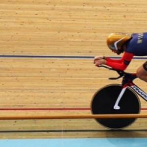 """Photo non exposee : l ancien recordman mondial de l heure, Sir Bradley Wiggins : 54,089 km (c) """"Belga"""""""