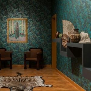 """Fumoir """"L Oasis"""", sur le theme de l Afrique, avec une peinture de Kees Van Dongen (c) Lola Pertsowsky"""