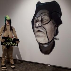 """""""Art is Activism"""" (c) Evelien de Jong/Ph.:A. Dannevoye/""""alluMeuse"""""""