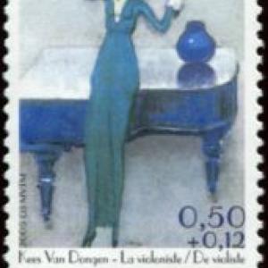 """Timbre Poste belge : """"La Violoniste"""" (c) """"BPoste"""""""