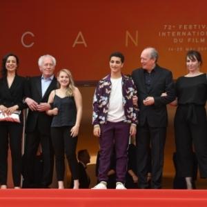 """""""Le Jeune Ahmed"""" (Jean-Pierre et Luc Dardenne) : Sur scene, L equipe du film,a Cannes (c) """"AFP"""""""
