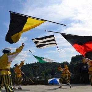 "Les ""Alfers Namurois"" en pleine performance folklorico-sportive"