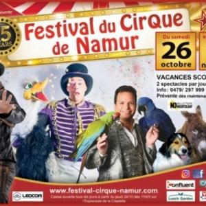 """15e """"Festival du Cirque"""", à Namur, du 26 Octobre au 11 Novembre / Parade, ce 23 Octobre"""