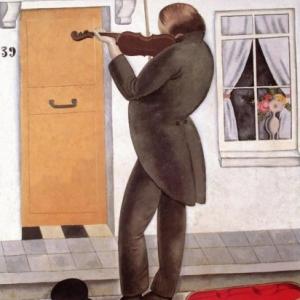 """""""Le Violoniste Aveugle"""" (1920) (c) Gustave Van de Woestyne (c) Ville de Liege"""