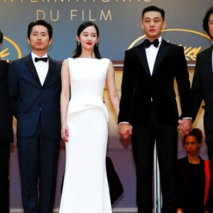 """Burning"" (Lee Chang-dong) : l equipe du film, en 2019, au ""Festival de Cannes"""