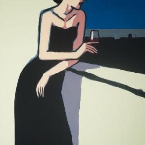 """""""Un Verre de Vin rouge""""/116 x 81 cm (c) Jean-Claude Gotting/""""Huberty & Breyne Gallery"""" 2019"""