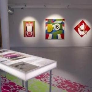"""L une des salles du """"Delta"""", consacrees a l exposition """"Evelyne Axell, Methodes Pop"""""""