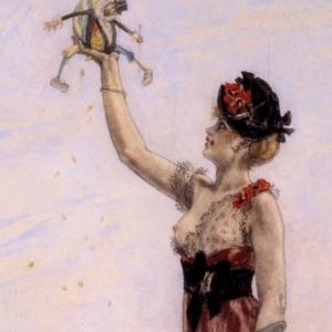 """""""La Dame au Pantain"""" (c) """"Musee provincial Felicien Rops"""""""