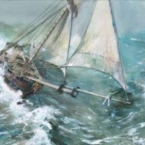 """Illustration pour """"Les Voyages de Jules"""" d Emmanuel Lepage (c) Rene Follet/""""Galerie Daniel Maghen"""""""
