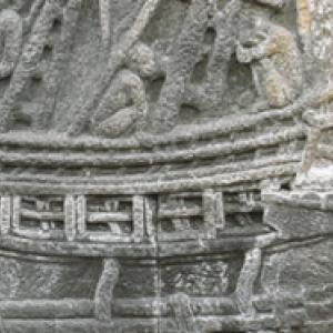"""Bas-Relief du Temple bouddhiste de Borobudur  """"Musee National d Indonesie"""""""