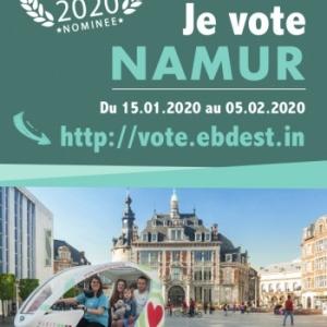 Votons Namur, comme meilleure Destination européenne 2020