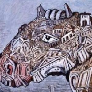 """Tete d Animal mysterieux"" (Giorgio de Chirico/1975) (c) ""SABAM Belgium 2019"""