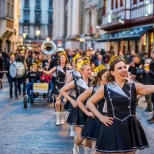 """100 jours avant le """"Grand Depart"""", la fete envahissait les rues de Bruxelles (c) Eric Danhier"""