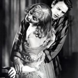 "Vivien Leigh et Marlon Brando, en 1951, dans ""Un Tramway nomme Desir"""