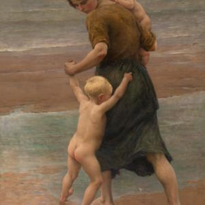 """""""Dans l'Eau!"""", Virginie Breton, 122,5 x 182,1 cm"""