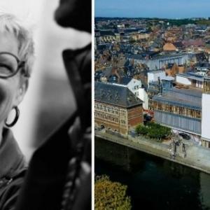 """Nicole Gilet, deleguee generale du """"FIFF"""", et le tout nouveau """"Delta"""" (c) """"La Meuse"""""""