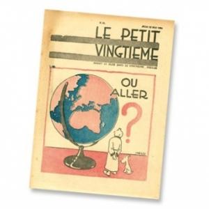 """Apres """"Tintin au Pays des Soviets""""/une couverture du """"Petit Vingtieme""""/1930 (c) Herge-Moulinsart 2019"""