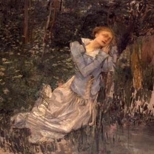 """""""La Mort d'Ophelie"""", Jules Bastien-Lepage, 1881"""