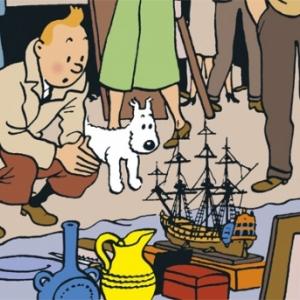 """Tintin"" decouvre ""La Licorne"" (c) ""Herge-Moulinsart"""