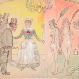 """""""Les vieux Polissons""""/James Ensor/1893/ (c) Province de Namur"""