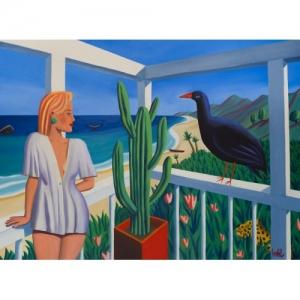 """""""La Visite"""" 100 x 73 cm (c) Jacques de Loustal"""