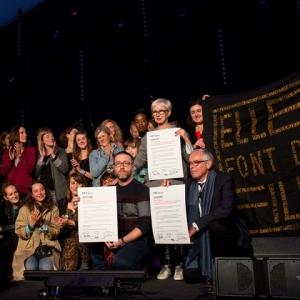"""La """"Charte 5050 2020"""", pour la parite, signee, en 2018, par  les organisateurs du (c) """"FIFF Namur"""""""