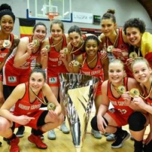 """L equipe du """"Basket Namur Capitale"""", laureate de la Coupe de Belgique 2018"""