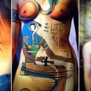 L Egypte peinte sur le Corps