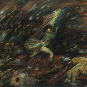 """""""Bonaparte au pont d Arcole"""" (s.d./pastel/73 x 102 cm/collection privee (c) Vincent Everaerts"""