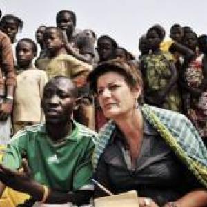 "F. Lecomte au travail (c) B. Géminel (""Congo Paradisio"")"